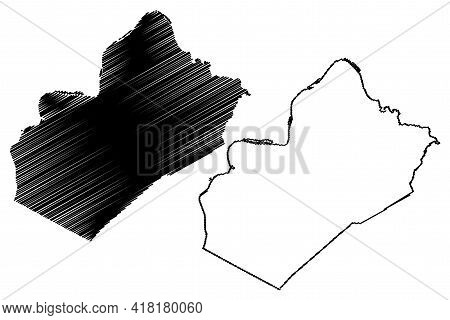 Wood County, State Of West Virginia (u.s. County, United States Of America, Usa, U.s., Us) Map Vecto