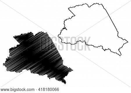 Wyoming County, State Of West Virginia (u.s. County, United States Of America, Usa, U.s., Us) Map Ve