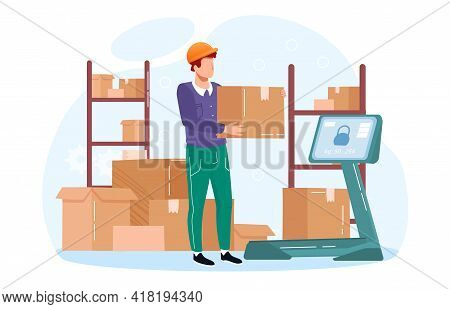 Metaphor Vector Concept. Inventory Management With Goods Demand And Stock Supply Planning. Goods Col