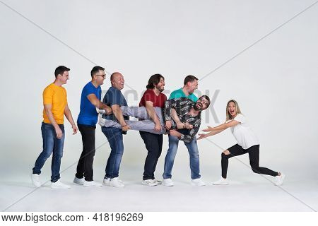 Diverse People Group Portrait On White Background