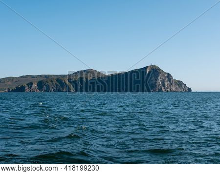 The Seaport In The Avacha Bay Of Petropavlovsk-kamchatsky. View From The Sailing Yacht To The Seapor