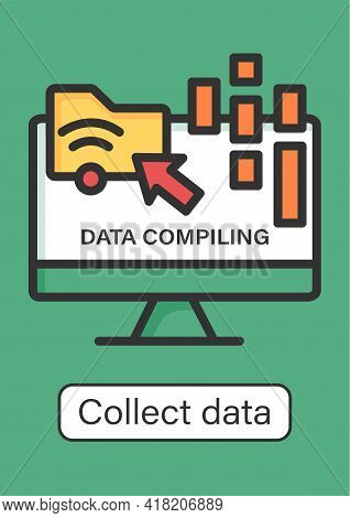 Collect Data Online Brochure.data Compiling, Account Info Gathering.online Banking Services Template