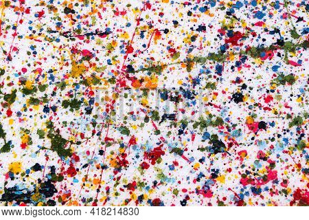 Colorful Background For Card Or Wallpaper, Abstract Spot Water Color Surface Element For Text Templa