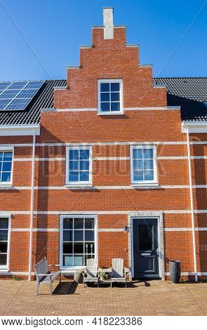 New House In Old Dutch Style With Step Gable In Blauwestad, Netherlands