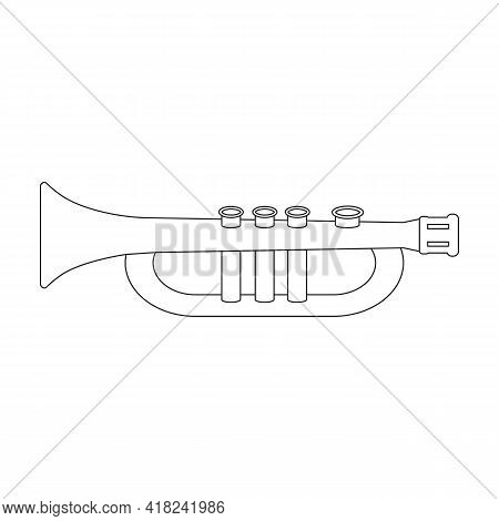 Flute Vector Outline Icon. Vector Illustration Music Instrument On White Background. Isolated Outlin