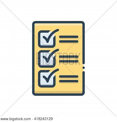 Color Illustration Icon For Compulsory Mandatory Obligatory Imperative