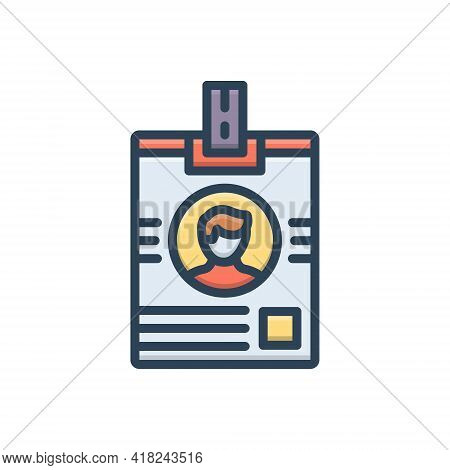 Color Illustration Icon For Pass Id-card  Website Admit-card Permit Qualification