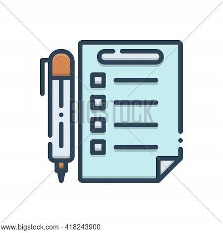 Color Illustration Icon For Rules Prescript Method Guideline Concept