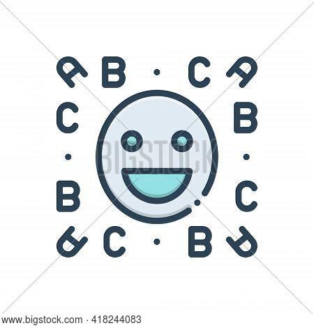 Color Illustration Icon For Idiom Emoji  Expression  Language  Locution  Phrase  Smile