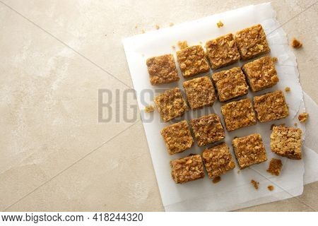 Energy Bites, Fudges Oatmeal Healthy Snack, Square Cookies