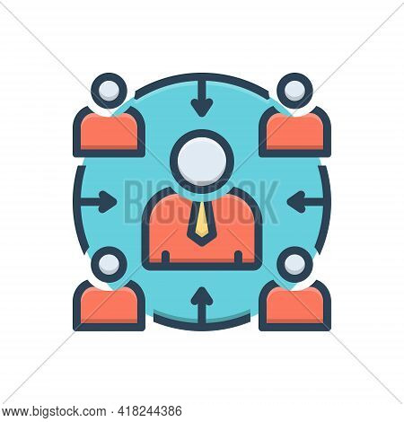 Color Illustration Icon For Facilitator Accommodation  Comfort  Convenience Facility