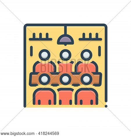Color Illustration Icon For Meeting-room Meeting Room Hall  Conference  Executive Pedestal