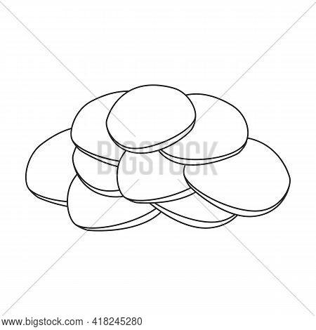Ginger Vector Outline Icon. Vector Illustration Root On White Background. Isolated Outline Illustrat
