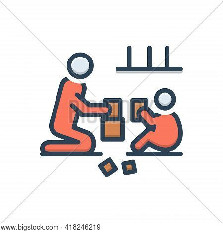 Color Illustration Icon For Plays Fun Entertainment Recreation Amusement Shindy Game Indoor
