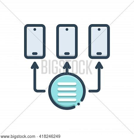 Color Illustration Icon For Provisioning Access Technology Network