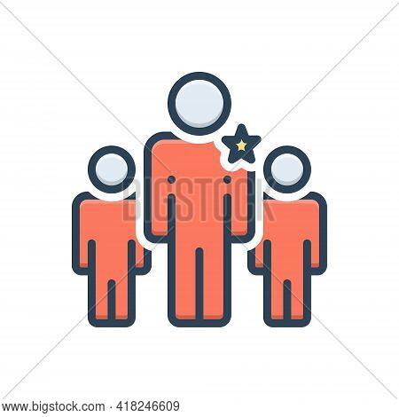 Color Illustration Icon For Seniority Superiority Eminence Excellence Transcendence