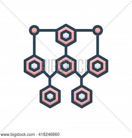 Color Illustration Icon For Structure Framework Frame Draft