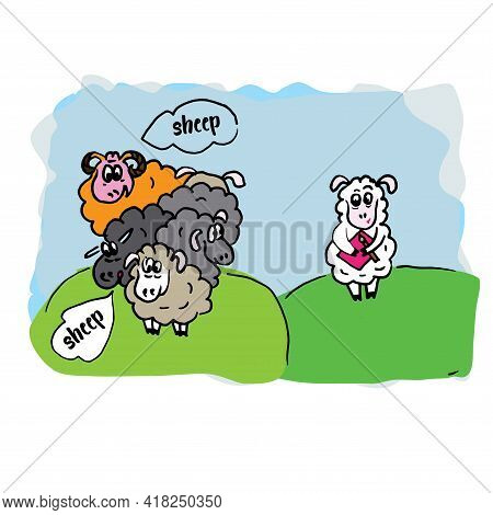 Flock Of Sheep Condemns Another Sheep That