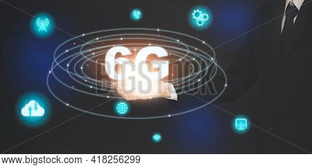 Business Touch Technology 6g Of Mobile Telecommunication Network In Europe For High-speed Wireless D
