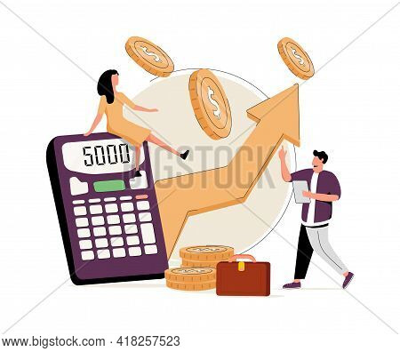 Retail Profit Plan Abstract Concept Vector Illustration Set. Flash Sale, Sales Forcasting And Index,