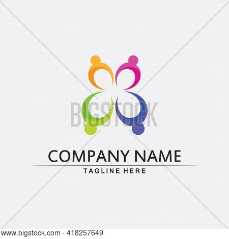 People Logo, Team, Succes People Work, Group And Education Logo Community, Group Company And Busines