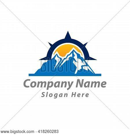 Mountain Explorer Travel Vector Icon,compass Logo Design Template.eps 10