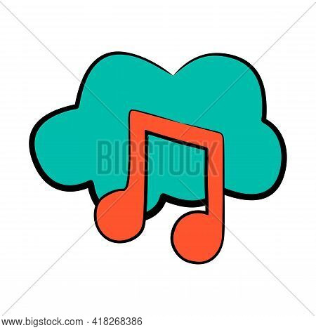 Vector Beautiful Music Icon. Music Icon Isolated On White Background. Musical Icon Simple Sign. Musi