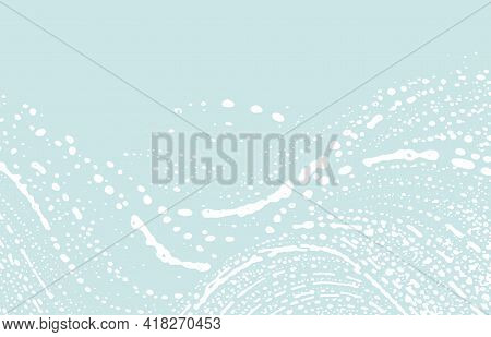 Grunge Texture. Distress Blue Rough Trace. Cute Background. Noise Dirty Grunge Texture. Favorable Ar