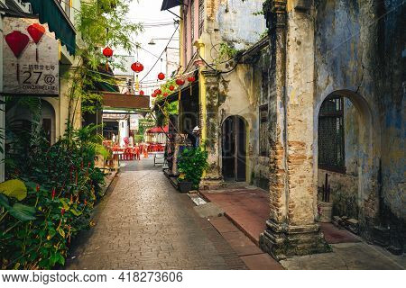 August 15, 2018: Second Concubine Lane, Or Yi Lai Hong, Is A Narrow And Small Lane Located At Leech
