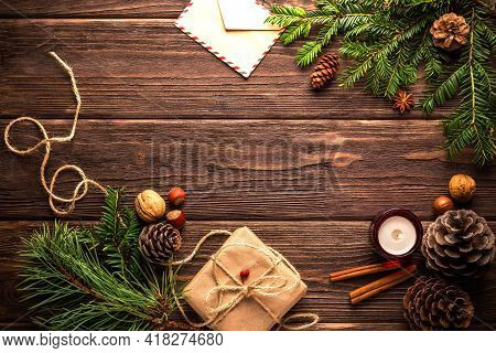 Christmas Background With Christmas Very Beautiful Decorations