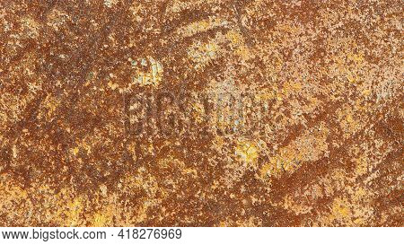 Abstract Rusty Metal Texture, Rusty Metal Background For Design With Copy Space For Text, Image. Unp