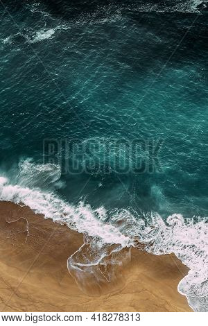 Beautiful Sea Background For Your Smartphone. Beautiful Sandy Beach With Turquoise Ocean, Vertical V