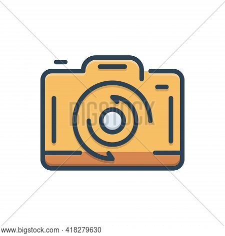 Color Illustration Icon For Change Transformation Variation Alteration Shift Modification Camera