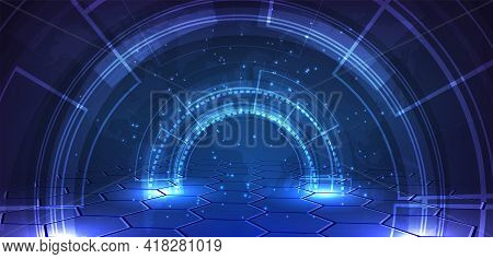 Abstract Dark Blue Technology Graphic Concept.vector Illustration.eps10