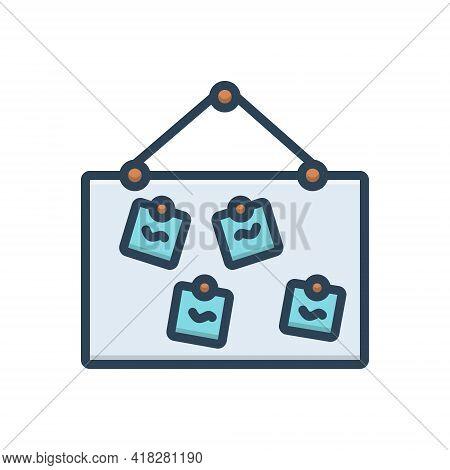 Color Illustration Icon For Name Title First-name Appellation Sobriquet