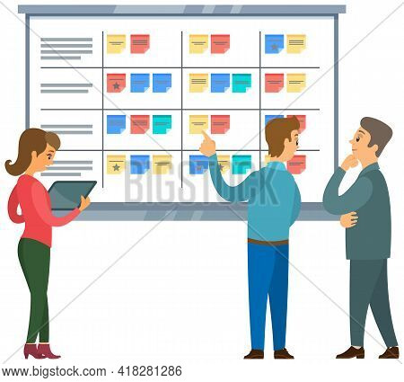 Business Strategy Planning, Project Management. Tasks Planing Concept. Business Working Process, Tim