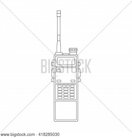 Talkie Portable Vector Outline Icon. Vector Illustration Radio Talkie On White Background. Isolated