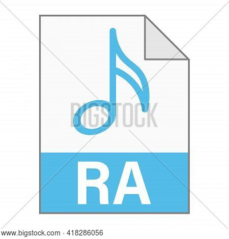 Modern Flat Design Of Ra File Icon For Web