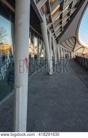 Parma, Italy - March 2021: Modern Bridge