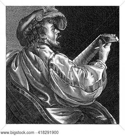 Luit spelende man, Salomon Savery (attributed to), after Hendrick ter Brugghen, 1610 - 1665