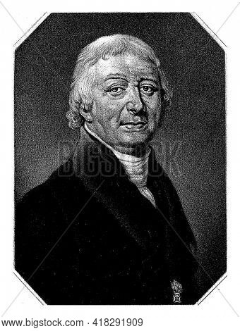 Johannes Hendricus van der Palm, pastor, theologian and professor of oriental languages in Leiden. A knighthood on the lapel.