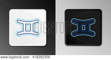 Line Gemini Zodiac Sign Icon Isolated On Grey Background. Astrological Horoscope Collection. Colorfu