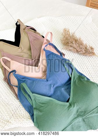 Collection Of Sports Bras Of Different Color