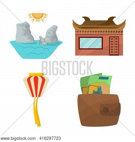 Vector Design Of Vietnam And Traditional Sign. Set Of Vietnam And Asia Stock Symbol For Web.