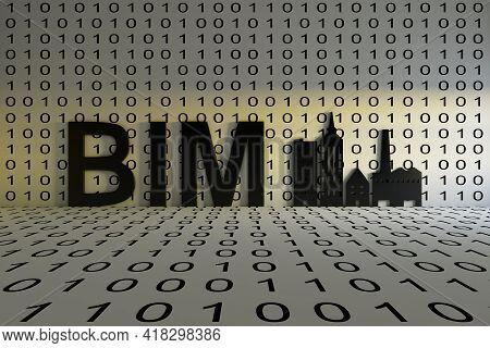 Bim Concept Text Sunlight 3d Render Illustration