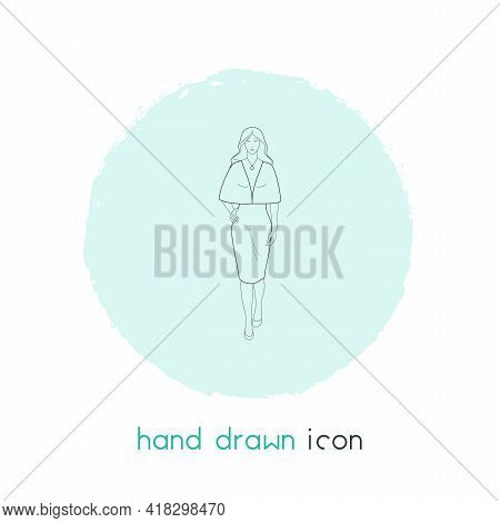 Model Icon Line Element. Vector Illustration Of Model Icon Line Isolated On Clean Background For You