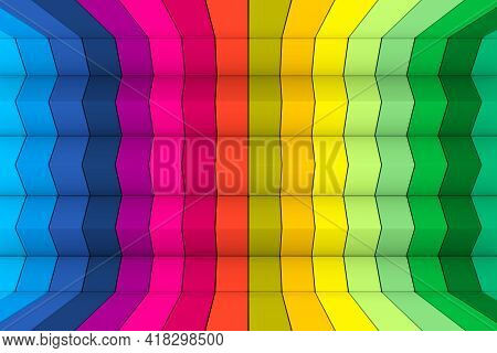 Colorful Triangles Abstract Background 3d Render Illustration
