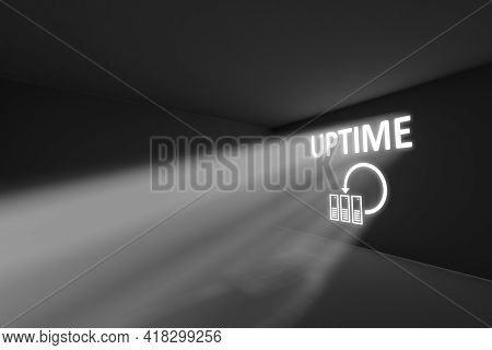 Uptime Rays Volume Light Concept 3d Illustration