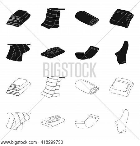 Vector Illustration Of Soft And Clean Logo. Collection Of Soft And Household Vector Icon For Stock.