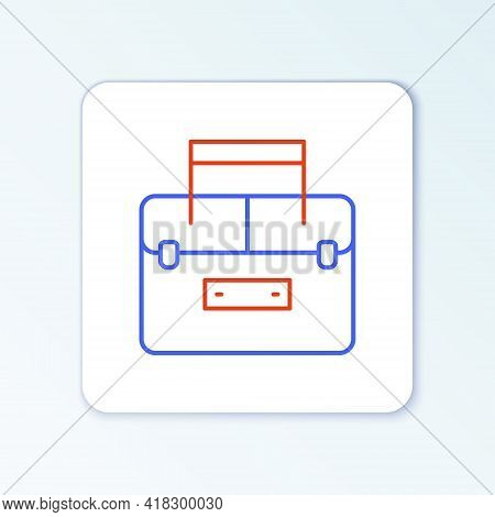 Line Case Or Box Container For Wobbler And Gear Fishing Equipment Icon Isolated On White Background.
